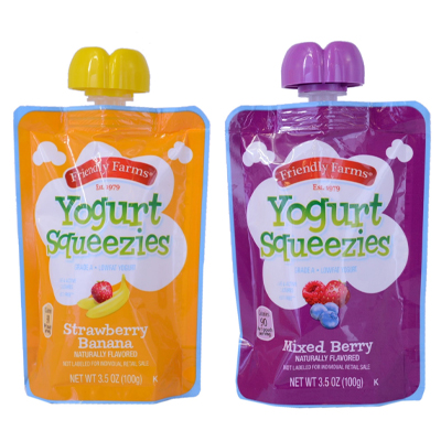 FPO Friendly Farms Yogurt Squeezies packaging