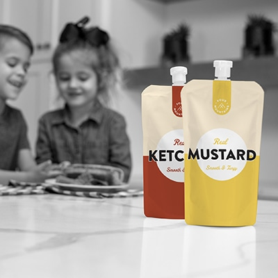 Ketchup and Mustard Pouches