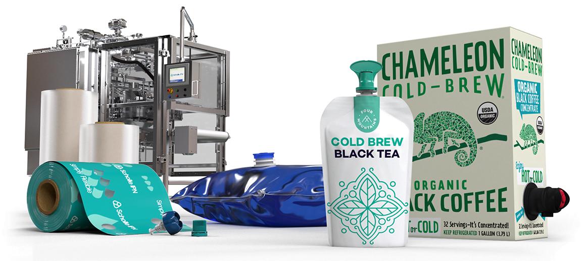 ScholleIPN coffee and tea packaging