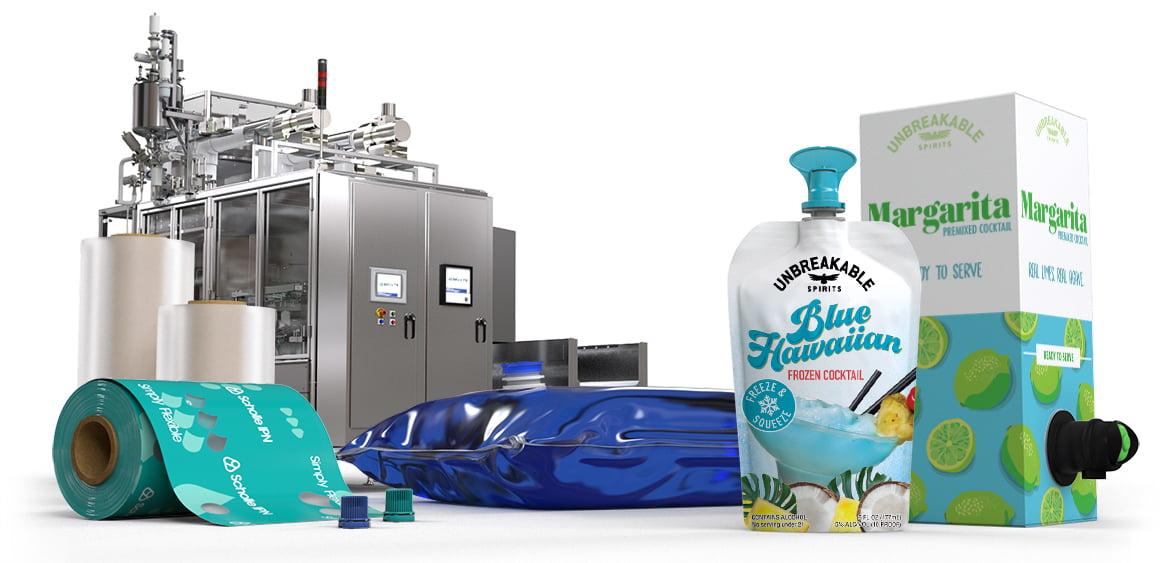 Scholle IPN Cocktail Mixes Packaging
