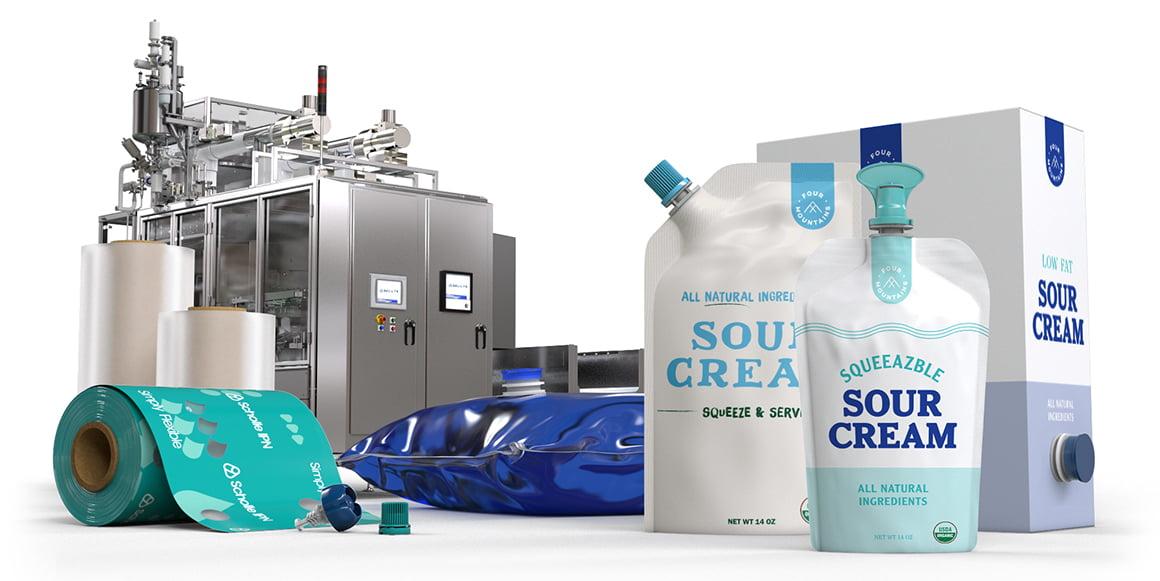 Scholle IPN Sour Cream Packaging