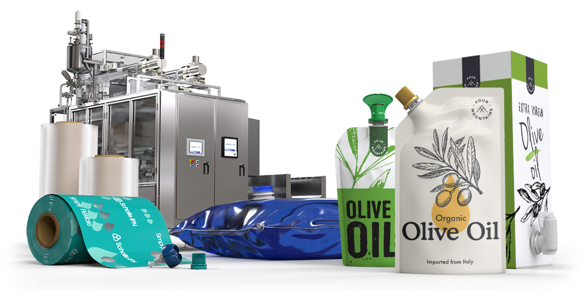 Scholle IPN Olive Oil Packaging