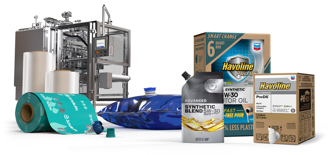 ScholleIPN automotive fluids motor-oil packaging