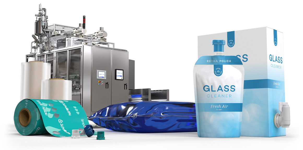 Scholle IPN Glass Cleaner Packaging