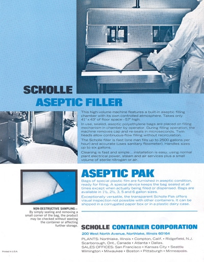 Early Scholle Filler Ad