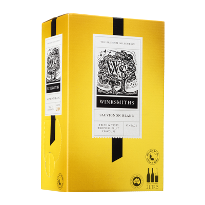 Winesmiths SauvignonBlanc Bag-in-Box Packaging